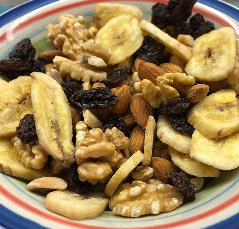 Mix frutos secos con banana